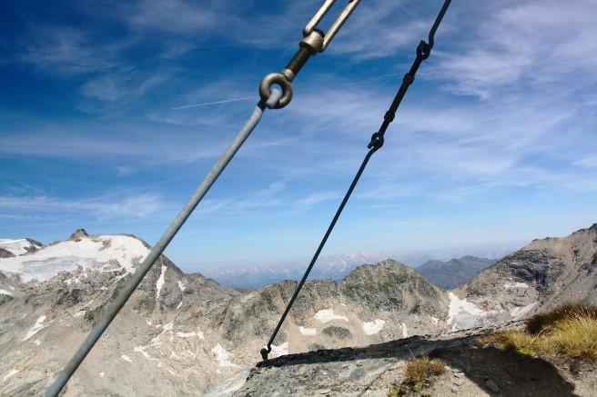 Blick Richtung Bundesland Salzburg: Am Horizont Steinernes Meer und Tennengebirge
