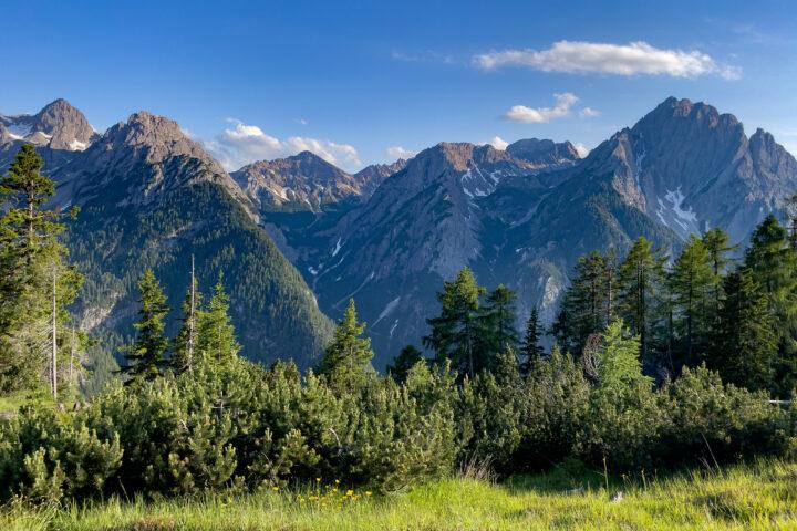 Die Dolomiten vom Rauchkofel aus gesehen